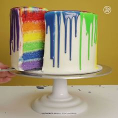 Rainbow Cake great for an art birthday party