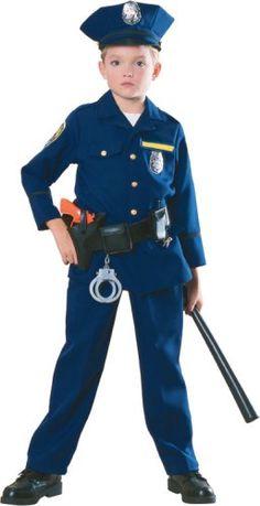 Police Officer Costume for Boys Kids