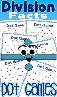 Division Facts Dot Games are a fun and easy way to practice division facts (One's through Twelve's). Use as a math center in your classroom and keep early finishers learning their basic facts while having fun with this little to no-prep option! 10 games included.