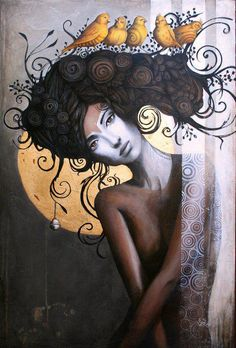 """Sophie Wilkins is an Canadian painter, known for working in the Magic Realism style. """"Drawing and painting have been part of my life since my tender childhood. Art Amour, Pop Art, Magic Realism, Art Et Illustration, Female Art, Fantasy Art, Art Drawings, Street Art, My Arts"""