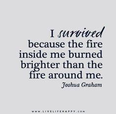 I survived because I believed I could