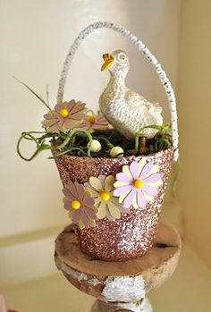 another peat pot Easter basket