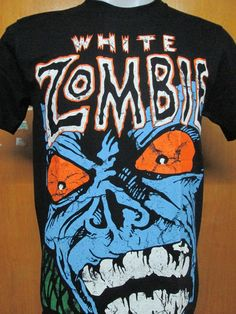 T SHIRT WHITE ZOMBIE ROB ZOMBIE METAL BAND NEW! M,L #THEROXX #GraphicTee