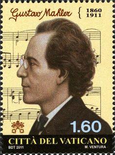 Gustav Mahler auf Briefmarke des Vatikans