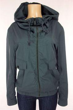 KAI-AAKMANN Jacket Size S Small Slate Gray Cotton Hooded #Kaiaakmann #BasicJacket