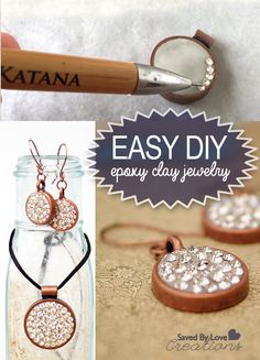 How to Make Gorgeous Epoxy Clay Crystal Jewelry @savedbyloves