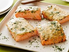 Mustard-Maple Roasted Salmon #myplate #protein
