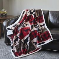 New Flannel Moose Luxury Sherpa Gift Fleece Throw Blanket Southwest Rustic Decor