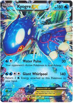 Pokemon Tcg Cards, Cool Pokemon Cards, Pokemon Trading Card, Trading Cards, Kyogre Pokemon, Pokemon Real, Pokemon Toy, Pokemon Stuff, Soccer