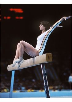 Poster Print-Nadia Comaneci - 1980 Moscow poster sized print mm) made in the UK Nadia Comaneci Perfect 10, Gold Medal Winners, Balance Beam, Artistic Gymnastics, Namaste Yoga, Olympic Sports, Floor Workouts, Tennis, Sports Women