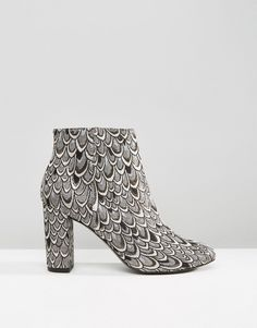 Image 2 - Miss Selfridge Jacquard Heeled Ankle Boot