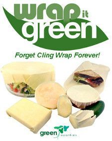 Wrap it Green - reusable food wraps! Set of 5 - The Raw Food Store - Australia's Raw Food & Eco Friendly Store. #eco-friendlyproducts