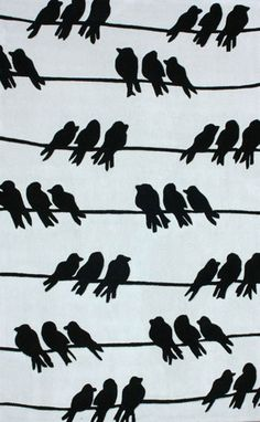 nuLOOM Light Grey Birds on a Wire | Contemporary, Novelty Rugs
