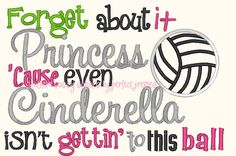 The fun Volleyball saying design will be great for that special volleyball player (or change to match the sport)