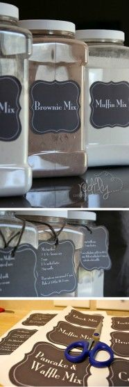 Free Homemade Baking Mix Labels and Recipes