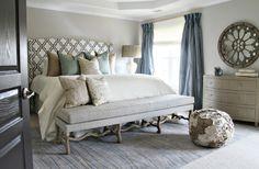 Suzie: Lucy and Company - Stunning bedroom with Robert Kaufman House Designer - Metro Living - . Shabby Chic Bedrooms, Cozy Bedroom, Master Bedroom, Bedroom Decor, Bedroom Ideas, Pretty Bedroom, Bedroom Inspiration, Dream Bedroom, Bedroom Furniture