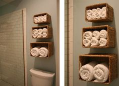 idea para ahorrar espacio en el cuarto de baño