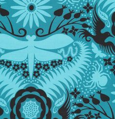 Garden Divas JS31 Aqua by Jane Sassaman for FreeSpirit Quilting Fabric. Made into Scout Tee.  Fabric looked great, but the pattern's loose fit below the bust is a fail.