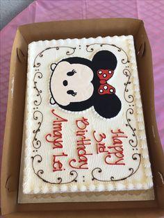 Minnie Mouse Tsum Tsum cake!! [Strawberry Mousse cake by Stillwell's bakery.] |Maui, HI.|
