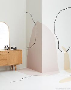 The trend in hand-painted wall murals is for a relaxed, anything goes, freehand style including small painted features. Bedroom Murals, Bedroom Wall, Metal Walls, Metal Wall Art, Wall Art Designs, Wall Design, Wall Decor, Room Decor, Easy Wall