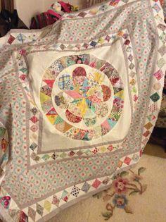 Judy newmans Museum Medallion quilt .... in progress