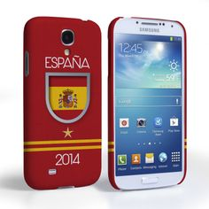 Caseflex Samsung Galaxy S4 Espana World Cup Case   Mobile Madhouse #Gift #Present #Samsung #Galaxy #S4 #SamsungS4 #GalaxyS4 #Case #Cover #HardCase #PhoneCover #WorldCup2014 #Brazil2014 #Flags #Football #Spain #Badge #Shirt #Star
