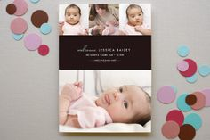 chic baby Birth Announcements by kelli hall at minted.com