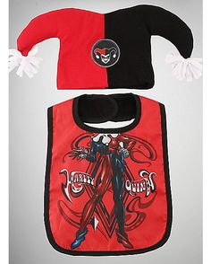 Harley Quinn Baby Hat & Bib Set - Spencer's