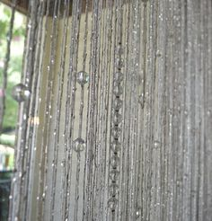Beaded curtain with silver thread Crystal Curtains, Beaded Curtains, Panel Curtains, Pink Salon, Led Curtain Lights, Winter Bedroom, Moroccan Room, Vintage Jewelry Crafts, Beautiful Curtains