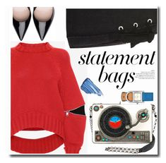 """""""Statement Bags"""" by duma-duma ❤ liked on Polyvore featuring Alexander McQueen, Topshop, Tory Burch, Sisley and statementbags"""