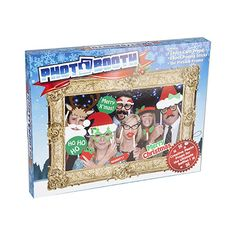 25pce Photo Booth Selfie Props With Picture Frame - Christmas Party