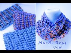 Tunisian Crochet - Mardi Gras Cowl Part 1