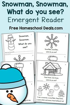 This is a post by Free Homeschool Deals contributor, Lauren Hill at Mama's Learning Corner. With wintry weather on the horizon, it& the perfect time t Snow Activities, Language Activities, Literacy Activities, Preschool Themes, Preschool Printables, Reading Activities, Educational Activities, Winter Thema, Preschool Christmas