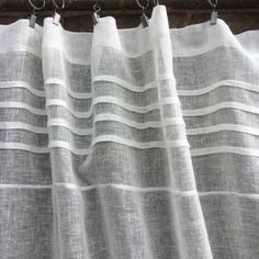 Tall Sheer Ivory White Linen Curtain Net Curtain French