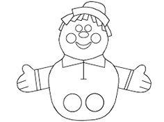 Paper finger puppets from BillyBear4Kids incl duck, tiger