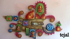 #Spiritual Vastu Mural.. Elegant Decorative article for who believes in Vastu #colorful frame made of dental powder#3D look#wall art#positive signs# eye catching colors