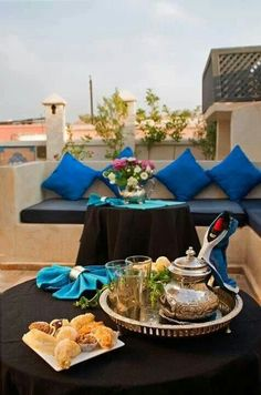 Moroccan tea time with sweets