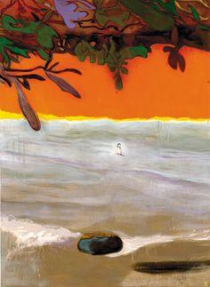 Peter Doig Paragon 2004 oil on canvas 200 x Peter Doig, Landscape Art, Landscape Paintings, Lucas 1, Figurative Kunst, Orange Art, Museum Of Fine Arts, Art Design, Art Blog