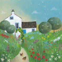 Summer Cottage Print by Julia Crossland <3