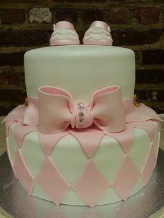 Chic & Classy baby shower cake!