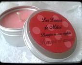 """Bougie naturelle parfum """"Pomme d'amour"""" : Luminaires par les-lueurs-de-meloe"""