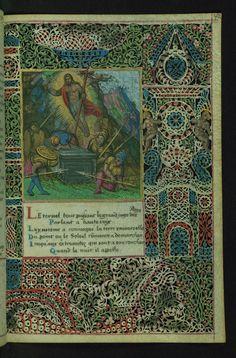 Lace Book of Marie de' Medici Resurrection Walters Manuscript W.494 fol. 42r by Walters Art Museum Illuminated Manuscripts