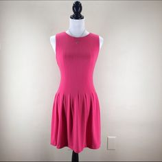 """ARA Fit & Flare Dress NWT! Fit and flare, Rose Pink, sleeveless Ara brand dress with back zipper. It's truly a small, but material is stretchy so fit is a bit flexible. Bust-32/33"""". Waist-26"""". Shoulder to hem-33"""". 65% Polyester, 30% Cotton, 5% Spandex. ModCloth Dresses"""
