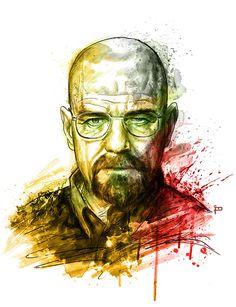 My Heisenberg portrait #breakingbad #heisenberg #portrait #illustration