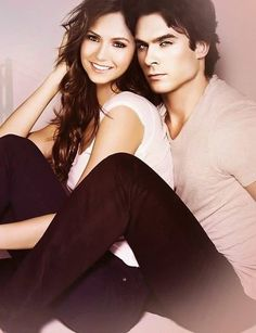 The Vampire Diaries - Ian Somerhalder and Nina Dobrev