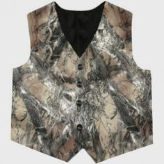 MC2 Camo vests - custom made!  Yet another camo design to choose from.  Perfect for a camo wedding, country wedding, rustic wedding, redneck wedding, or prom.  Made with True Timber Satin MC2 Camo...@ artfire