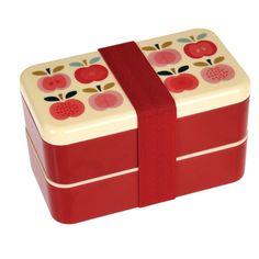 Bento Brotbox Vintage Apfel Groß