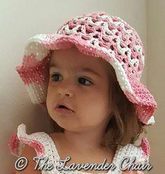 Valeries Summer Sun Hat Infant-Child - Free Crochet Pattern - The Lavender Chair