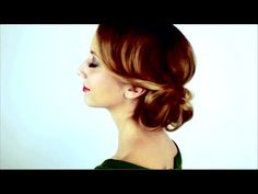 1920's Wavy Glam Hair Tutorial (Inspired by Oz The Great and Powerful) w...