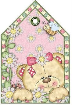 Cuddly Buddly - Jeanette - Álbuns da web do Picasa Bear Clipart, Cute Clipart, Tole Painting, Fabric Painting, Tatty Teddy, Teddy Bear, Paper Tags, Baby Scrapbook, Cute Illustration